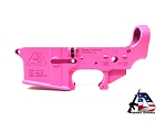 Armory Dynamics AD-15 Enhanced / Threaded Forged Lower Cerakoted Pink