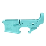 Armory Dynamics AD-15 Enhanced / Threaded Forged Lower Cerakoted Robin's Egg Blue