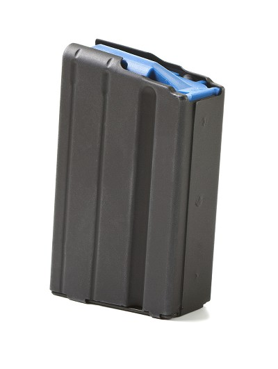 Ammunition Storage Components 5-Round Stainless Steel Magazine 6.5 Grendel Black with Blue Follower