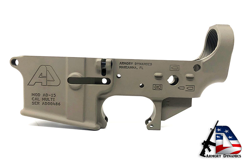 Armory Dynamics AD-15 Enhanced / Threaded Forged Lower Cerakoted Magpul FDE