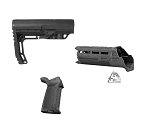 Stock Kit 01 / MFT Minimalist Stock Mil-Spec & Handguard / Magpul MOE Grip Black