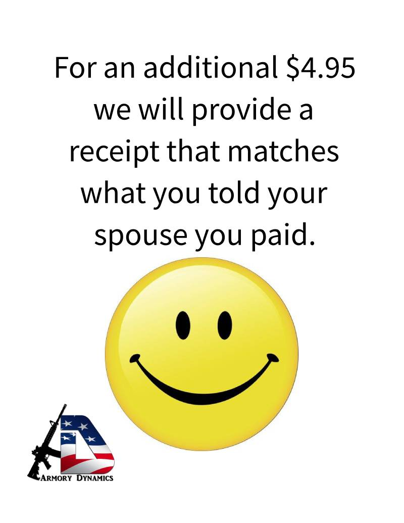 Armory Dynamics Spouse Receipt
