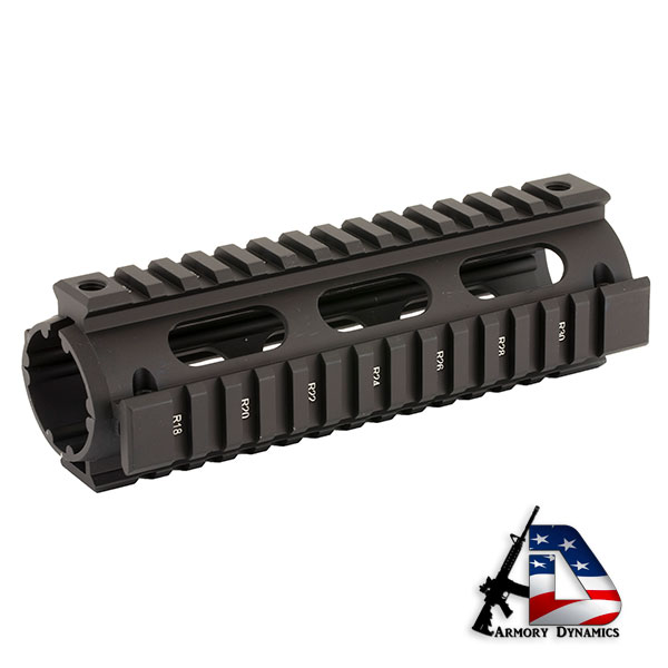 Leapers UTG PRO Model 4/15 Drop In Quad Rail Carbine Length Black