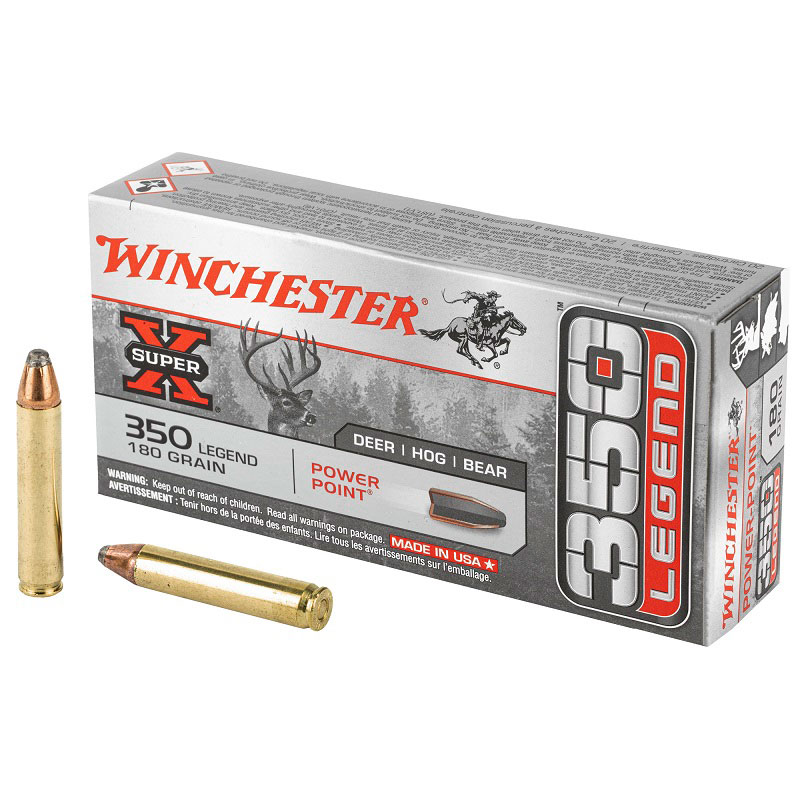 Winchester Ammunition, Super-X, 350 Legend, 180 Grain, Power Point, 20 Round Box