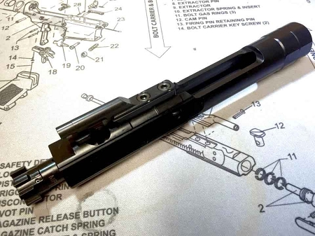 Armory Dynamics Enhanced Bolt Carrier Group AR15/M4 BCG Nitride QPQ
