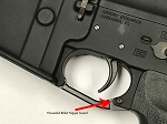 Armory Dynamics Threaded Billet Trigger Guard Anodized Black *No Roll Pins*