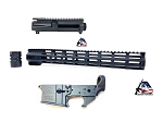 AD15 Lower Upper Handguard Set Anodized Black